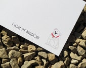 Bulldog Personalized Stationery Notecard or Notepad
