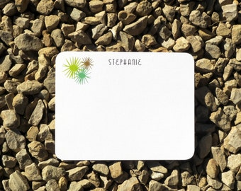 Succulent personalized stationery  - Modern - Personalized Stationery - Green and Olive
