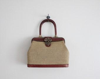 leather doctor bag / gladestone bag / etienne signer handbag