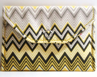 Card Pocket - Multi-Colored Chevron - Business Cards - Holder - Wallet - Gift - Holiday - Christmas