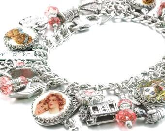 Mother's Charm Bracelet, Mother's Jewelry, Mother's day gifts, Home Sweet Home Charm Bracelet