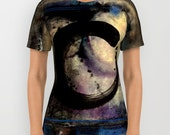 "Enso Zen Circle Shirt, Ladies, Mens, Unisex Shirt - Abstract Watercolor Painting art ""Being Within No. 4"" by Kathy Morton Stanion  EBSQ"