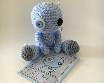 Calm the Amigurumi Blue Voodoo Doll