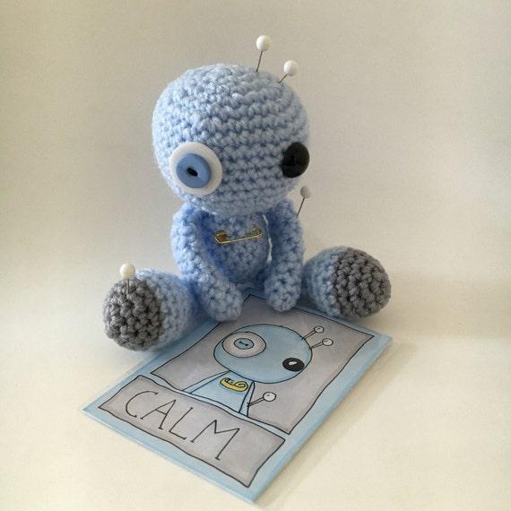 Amigurumi Voodoo Doll : Calm the Amigurumi Blue Voodoo Doll