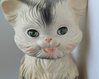 1960 Edward Mobley Rubber Cat Squeak Toy with Real Doll eyes