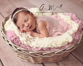 Newborn Girl Romper with Ruffled Bottom, Baby Onesie,  Newborn Photo Props,  U Choose Color Size