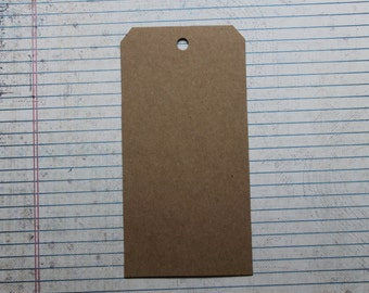 "5 bare chipboard shipping tag style die cuts 3 1/8"" wide x 6 1/4"" tall"