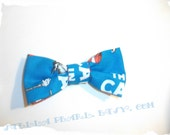 Cartoon Bow Tie - CLIP-On Unisex Adults and Children. Blue, White and Red