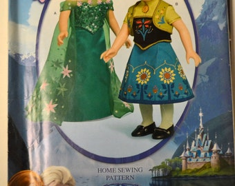 Sewing Pattern Simplicity W0365 Frozen Fever Dresses 18 inch Doll Clothing  Complete Uncut American Girl Doll
