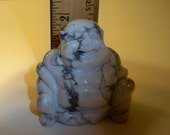 Carved Stone Buddha Figurine Carved and Polished Magnesite Buddha Collectible, Home Decor, Paperweight