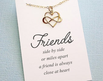 Best Friend Necklace | Infinity Necklace, Best Friend Gift, Friendship Necklace, Gift for Bestfriend, Bestie, Sister Gift, Friendship | F04