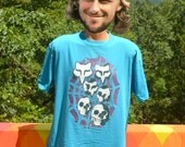 vintage 80s FOX RACING t-shirt motocross dirt bike victory death skull bmx tee XL Large rad