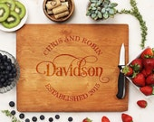 Personalized Cutting Board, Custom Cutting Board, Monogram with Established date, Engraved cutting Board Cherry wood --21076-CUTB-003