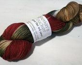 hand dyed yarn - Quick Step Sock - Winter Wear colorway (dyelot 10816)