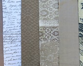 Tan, Taupe, Beige, Natural Fabric Pack, Collection ... DESTASH SALE, Closeout Clearance... 6 home design samplers, remnants, texture - F1623