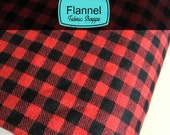 Burly Beavers Fabric, Hipster fabric, Flannel fabric, Plaid in Cardinal, Red fabric, Robert Kaufman- Choose the cut. Free Shipping Available
