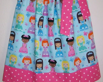 Girls Dresses Pillowcase Dress Princess Dress Princesses Pink and Blue Dress Princess Clothes Princess Party Princess Birthday