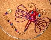 Summer Clearance! Large Red/Hotpink! Twisted Blue/Dragonfly/Suncatcher/Mix -number 10518 - pretty enameled wires! catch me!