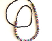 Bright colored necklace, reef, ocean, beaded