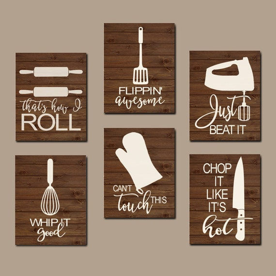 Funny Kitchen Sayings: KITCHEN QUOTE Wall Art Funny Utensil Pictures CANVAS Or