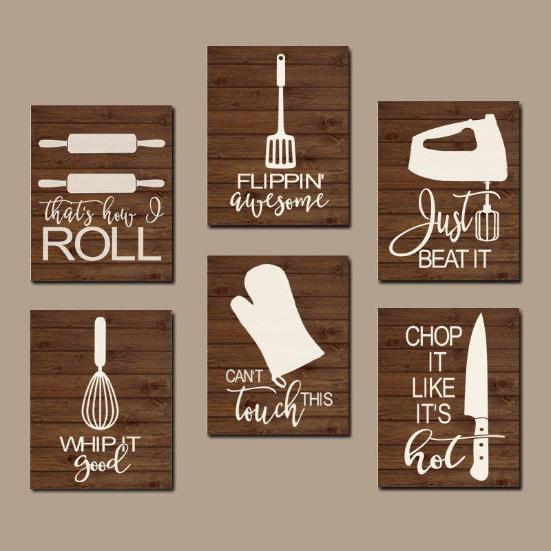 Wall Art Kitchen Quotes : Kitchen quote wall art funny utensil pictures canvas or