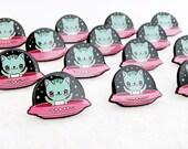 UFO Kitty Cat Enamel Pin