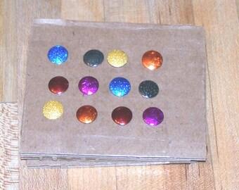 12 Color-Me rainbow Thumbtacks