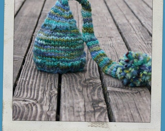 NEWBORN Photography Prop - Baby Knit Hat - Twin Props - Elf - PHOTO 1