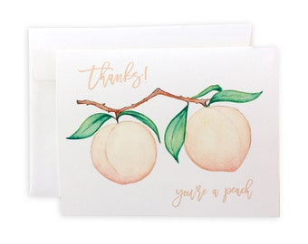 You're a Peach Greeting Card or Notecard Set