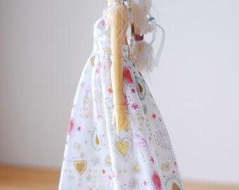 Princess hearts dress  - Slim Mini MSD BJD clothes