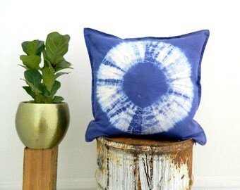 NYMPH . tie dye cushion cover . pillow . throw cushion . decorative pillow . throw pillow . blue . boho gypsy hippie tribal bohemian chic