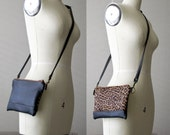Crossbody Bag, Leather Clutch, iPhone 6 Plus, Leather Wallet, Zipper Pouch, Small Crossbody Leather bag, Made to Order, Jenny N. Design