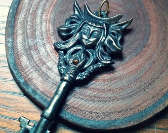 Key of Hecate -- Bronze Pendant