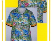 Franceska Creations 118 The Camp Princess Shirt Top Blouse Size Xsm to Plus Uncut Sewing Pattern 2008