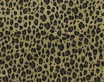 Cheetah Fabric with Brown & Black Leopard Spots By the Yard, Quarter Yard Fat Quarter Fabric Cotton Quilting Fabric a2/8