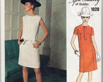 """Vintage Sewing Pattern Vogue 1928 Couturier Sybil Connolly Dress 34"""" Bust - Free Pattern Grading E-book Included"""