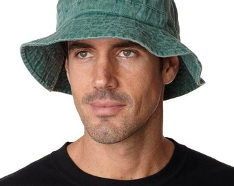 FOREST GREEN XL Bucket Hat - Women or Men Adams Cap - Price Apparel Embroidery - 10 Different Colors