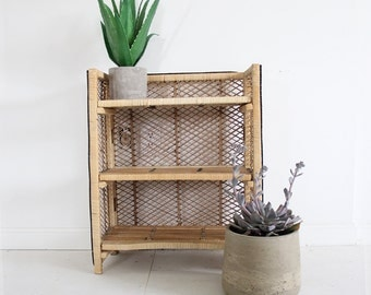 Boho Wicker Shelf. Great Bathroom Shelf.