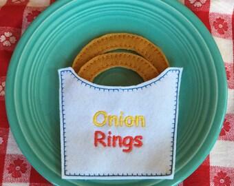 Felt Food Onion Rings in Bag