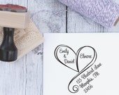 Wedding Invitation Return Stamp, Personalized Wedding Rubber Stamp, Custom Wedding Wood Stamps, Wedding Invitation Return Address Stamp