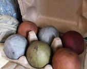 Primitive Country Easter Paper Mache Eggs Half Dozen Carton Bowl Jar Fillers Ornies