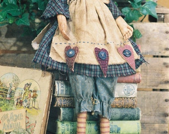 Mailed Cloth Doll Pattern - 19in Raggedy Ann Doll