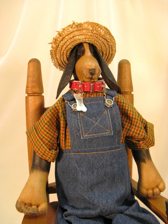 Mailed Cloth Doll Pattern - Good Ol Boy Country Hound Dog