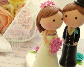 bride and groom cake topper (K207)