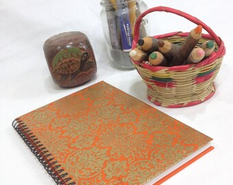 Ruled Journal - Orange & Yellow Part 1 - Small Lined Notebook - CHOOSE YOUR COVER