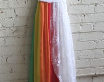Final Payment for Christine Neely's Custom Wedding Dress with Rainbow Accent