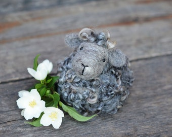 Needle Felted Black Sheep | Solid Wool