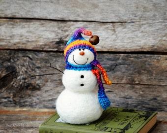 Snowman - needle felted snowmen  747