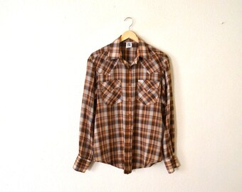 "1970's ""Kennington"" Button-Up Western Shirt."