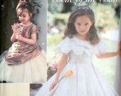 Simplicity 5216 Sewing Pattern, Girls' Special Occasion Dress, Overskirt, and Capelet, Flower Girl, Size 5-6-7-8, Uncut FF